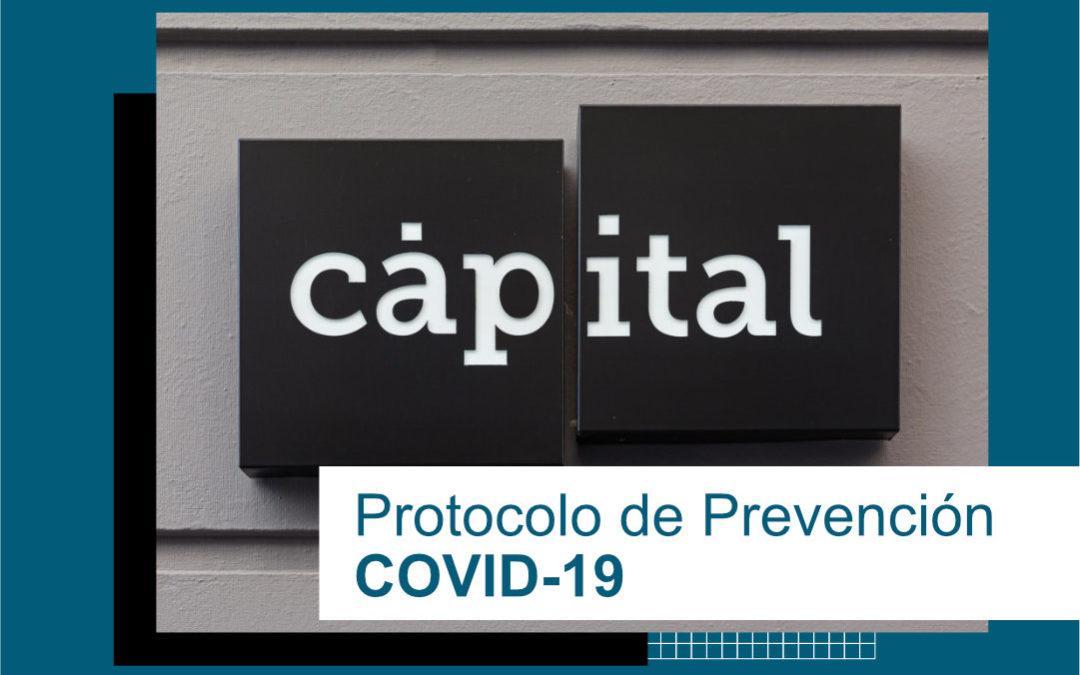 Protocolo de Prevención COVID19 Cápital