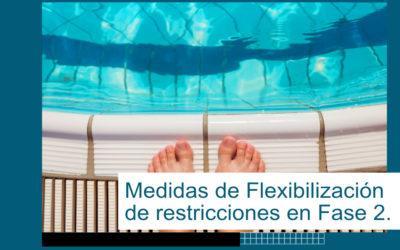 Medidas de flexibilización de restricciones en fase 2 de la desescalada.
