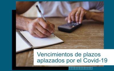 Vencimientos de plazos aplazados por el COVID-19