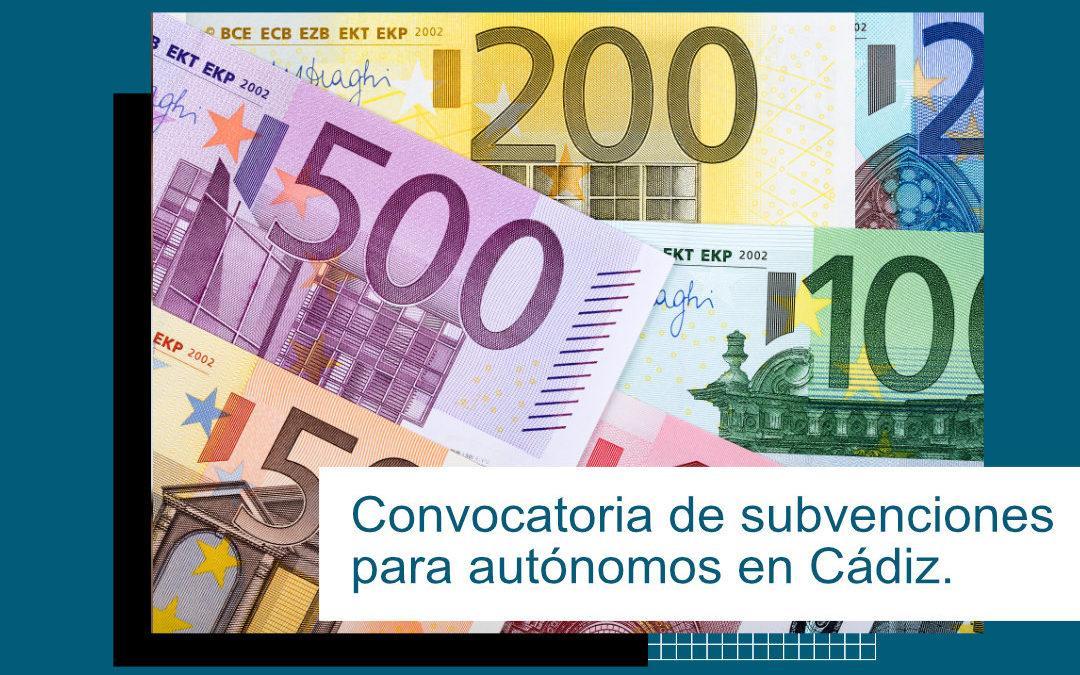 Convocatoria de subvenciones para autónomos