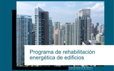 PROGRAMA REHABILITACIÓN ENERGÉTICA PARA EDIFICIOS